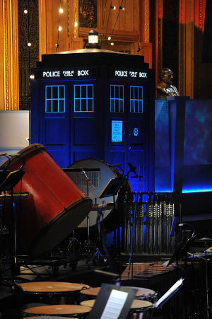 The Royal Albert Hall, The TARDIS, before the performance