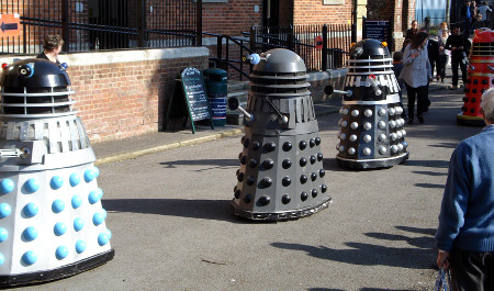 Dalek Invasion of Portsmouth 2013: Daleks on parade.