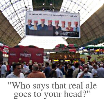 Who says that real ale goes to your head?