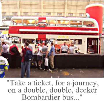 Take a ticket, for a journey, on a double, double, decker Bombardier bus...