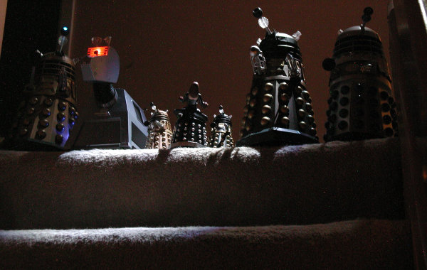 Dalek Vs. Dalek - Top of the stairs, lights out!