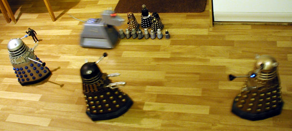 Dalek Vs. Dalek - K-9 attacks the spectators!