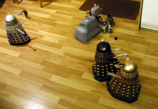 Dalek Vs. Dalek - The sprint decends into chaos...