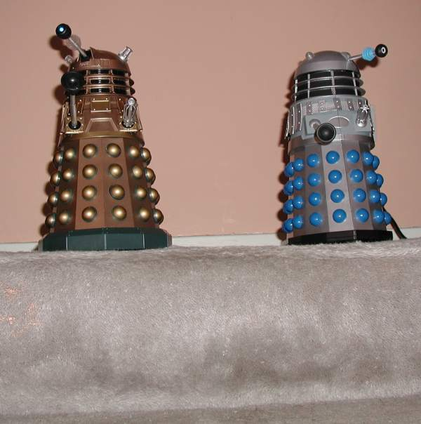 Daleks Ready for Stair Challenge