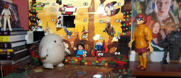Chief Inspector Grey-um #2 - Grey-um on the advent calendar as Dinkley approaches.