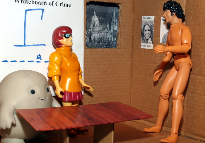 Chief Inspector Grey-um #2 - Chief Superintendent Naked Tom Baker joins them in Grey-um's office.