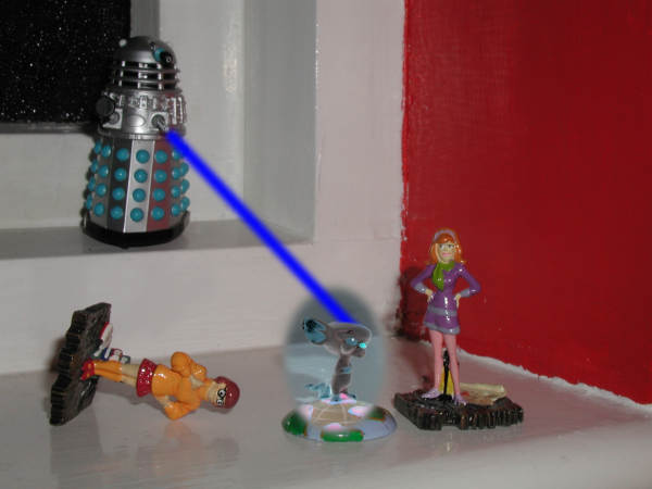 Mr. Dalek exterminates the Brain