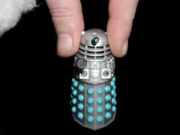 Mr. Dalek is picked up by Father Christmas