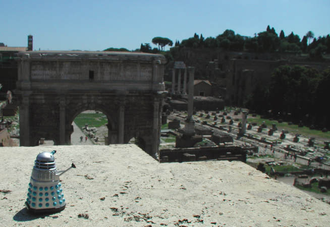 Mr. Dalek at the Roman Forum