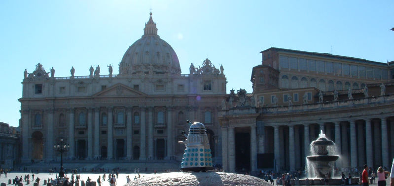 Mr. Dalek at the Vatican