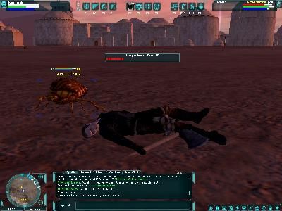 Star Wars Galaxies: Incapacited by a mound mite.
