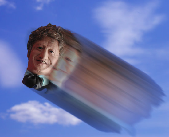 The Doctor's Head goes for a Roll - Flying Head!
